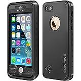 """Coque Imperméable iPhone 5S, Eonfne Coque/Etuis/Housses Etanche, Imperméable, Anti-Choc, Anti-Neige, Pare-Poussière pour iPhone 5/5S/SE, IP68""""Noir"""