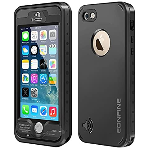 Coque Imperméable iPhone 5S, Eonfne Coque/Etuis/Housses Etanche, Imperméable, Anti-Choc, Anti-Neige,