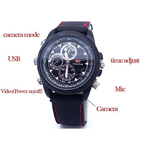 SAFETYNET 8GB Hidden Spy Watch Camera Mini DVR Waterproof Video Recorder Camcorder 1280x960 DV