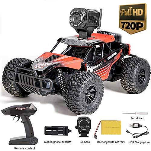 Ceepko RC-Autos mit Kamera, RC-Truck mit Wi-Fi-720P-HD-Kamera, 1:16 Ferngesteuertes Geländewagen mit Allradantrieb und 2,4 GHz für Erwachsene und Kinder