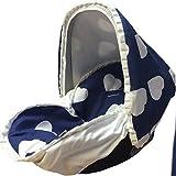 funda silla bebe grupo 00 corazones azul+capota