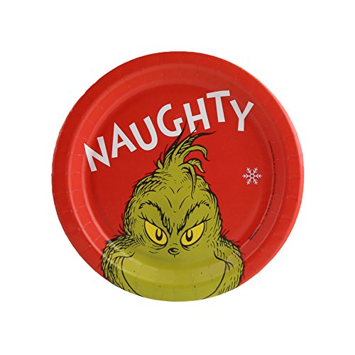 Birthdayexpress Dr. Seuss The Grinch Party Naughty Assiettes à dessert (24)