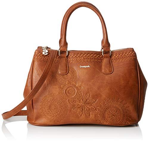 Desigual - Bag Dark Amber Cabo Women, Carteras de mano con asa Mujer, Marrón (Camel),...