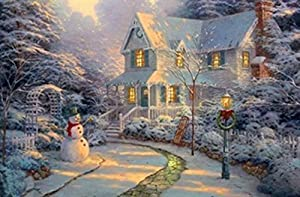 """Large Christmas Picture scene with LED Light up areas """"very attractive"""""""