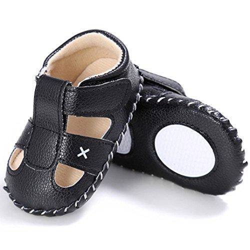 Ouneed® 0- 18 mois Unisex Bebe Premier Pas Sandale Chaussrues (11, Marron) Noir