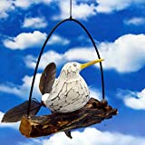 Pommerntraum   Windspiel maritim - Gartendeko - Mobile  Flattermöwe  Flattervogel  Möwe mit Federn auf AST