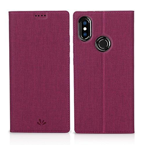 Eastcoo Xiaomi Mi A2 Hülle, Flip Folio Wallet Leder Smart Case Tasche Schutzhülle Handyhülle mit [Wake up][Standfunktion][Magnetic Closure] für Xiaomi Mi A2 (Mi A2, Rose)