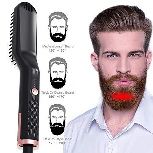 Haarbürste Elektrische Bartglätter for Männer Heißer Kamm