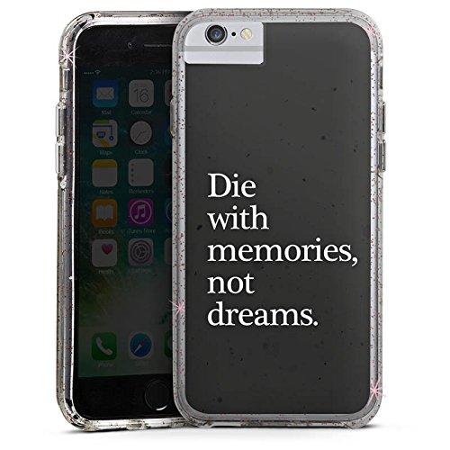 Apple iPhone 6 Bumper Hülle Bumper Case Glitzer Hülle Dreams Traeume Erinnerung Bumper Case Glitzer rose gold