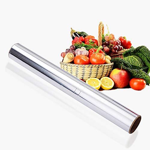 2 STÜCKE Schwere Non-Stick Food service Catering Aluminiumfolie Rolle für Grillofen Spezielle Reißfeste Folie Papier Grillwerkzeug Catering Line