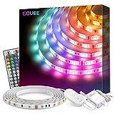 Striscia LED Govee 5M Aggiornata Impermeabile RGB SMD 5050, Luci LED con Telecomando per Camera da Letto, Cucina, Cambia Colore, Alimentazione 12V 1.5A