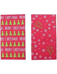 TOYANDONA 24 Piezas Bolsa de Regalo de Feliz Navidad Papel Kraft Árbol de Navidad Copo de Nieve Regalo Tratar Caramelo Envoltura Bolsa Decorativa Bolsa de Aperitivos Bolsa de Embalaje