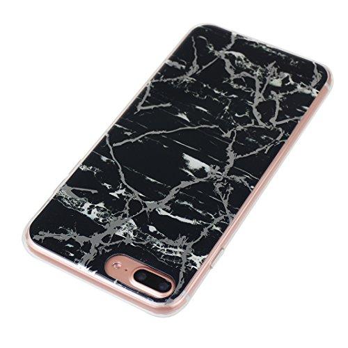 Schutzhülle iPhone 7/8 Plus 5.5 Zoll, iPhone 8 Plus Handyhüllen, iPhone 7 Plus Silikon Hülle mit Marmor, Marble Design, Moon mood® TPU 3D Handyhülle Muster Case Cover für Apple iPhone 7 Plus/iPhone 8  Marmor 6