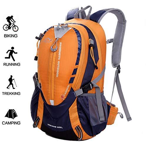 WUZHENG Fahrradrucksack, 25L Wasserdichter Fahrradrucksack Laufender Rucksack für Fitness Laufen Wandern Klettern Camping Skifahren,Orange