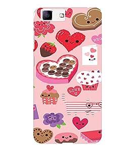 EPICCASE Love n Cake Mobile Back Case Cover For Vivo X5 (Designer Case)