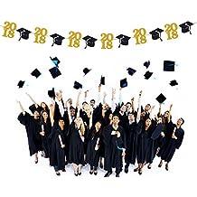 Graduation Party Banner Tinksky Graduation Party Decoraciones Bunting Banner Gorra de graduación Símbolo Fiesta de graduación