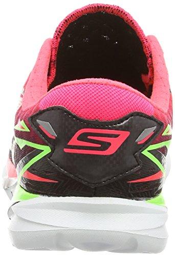 Skechers Go Meb Speed 3, Chaussures de sport femme Noir - Black (Black/Pink)