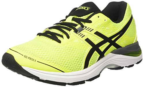 ASICS Herren Gel-Pulse 9 Laufschuhe, Gelb (Safety Yellow/Black / Carbon), 42 EU