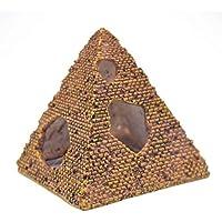 Lorjoy Pirámide de Resina Acuario de rocalla Cueva escondite Paisaje del Acuario decoración del Ornamento