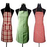#9: J Home Women's Cotton Apron (19x30-inch) Pack of 3