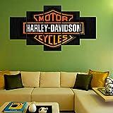 QJXX 5 Panels Harley Davidson Motorrad Fahrrad Reiten Bild Kunstdruck Wand Leinwanddrucke Dekoration Büro Wand Artwork,B,20 * 30cm+20 * 40cm+20 * 50cm