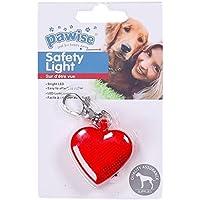 Pawise 11572 LED Blinklicht Hunde Leuchtanhänger Herz, Flashing Light mit 2 LEDs