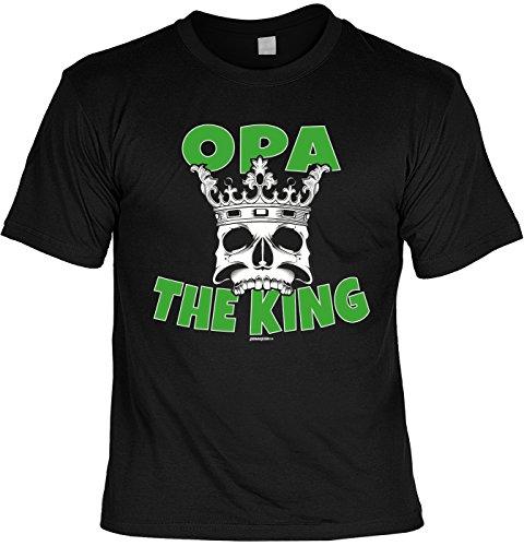T-Shirt - Opa - The King - cooles Shirt mit lustigem Spruch als Geschenk zum Vatertag Schwarz