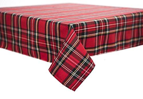 Tischdecke,Mitteldecke,Tischläufer,Serviette,Schottenkaro,Weihnachten 80 x 80 cm rot (Und Weihnachts-tischdecken Servietten)