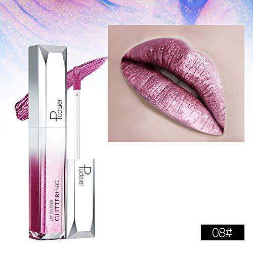 Vovotrade Lip Gloss, Starry Night, Starry Glanz Lip GlossWaterproof Langlebige Flüssigkeit Polarisieren Licht Lippenstift Make-Up Lipgloss Lip (H)