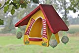 Original Die Vogelvilla, Futterhobbit zum Hängen Futterhaus, Vogelhaus, gelb