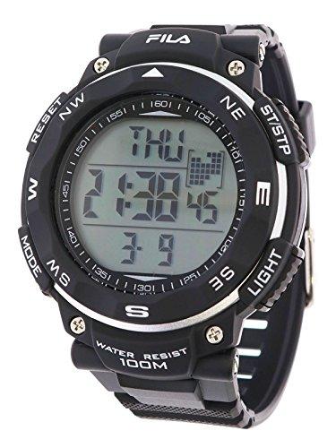 Fila sportliche Herrenuhr Digital 10 BAR Licht Alarm 38-824-001