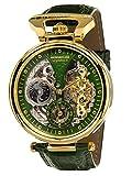 Calvaneo 1583 Herren-Armbanduhr Compendium Gold Green Analog Automatik Leder blau 107925