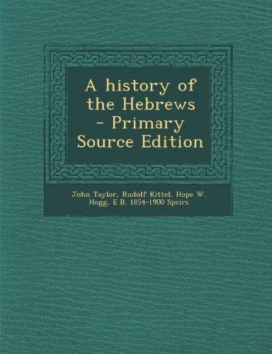 A History of the Hebrews (Jr-kittel)