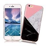 Coque iPhone 6/6S XiaoXiMi Etui en Marbre Texture Housse de Protection Soft TPU...