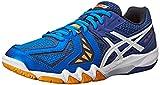 ASICS Men's Gel-Blade 5 Indoor Court Shoe, Electric Blue/White/Navy, 6 M US
