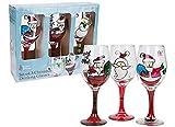 3er Set Handbemalt Weihnachten Weingläser