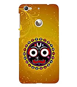 LeEco Le 1s :: LeEco Le 1s Eco :: LeTV 1S brown pattern, black circle, black cartoon Designer Printed High Quality Smooth Matte Protective Mobile Case Back Pouch Cover by Paresha
