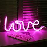 AIZESI LED Love Lampe Light Neon love Deko Licht NachtLicht Kinderzimmer Rose Schlummerleuchten NachtLicht WandLichter Wohnzimmer Weihnachten Party(Rose Liebe)