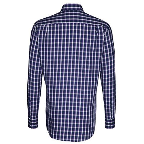 Seidensticker -  Camicia classiche  - A quadri - Con bottoni  - Uomo Lila