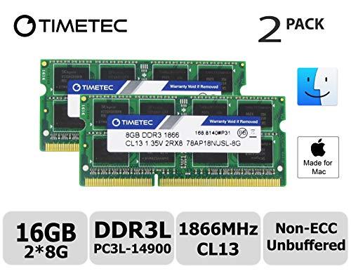 Timetec Hynix IC 16GB Kit (2x8GB) DDR3 PC3-14900 1866MHz Upgrade für Apple iMac 17,1 w/Retina 5K display (27-inch Late 2015) A1419 (EMC 2834) MK462LL/A, MK472LL/A, MK482LL/A (16GB Kit (2x8GB)) (Apple-desktop 27 Zoll I7)