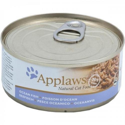 24 x Applaws Seefisch 156 g, Nassfutter, Katzenfutter