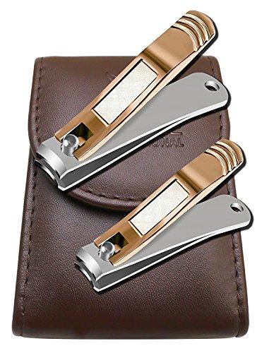 Nagelknipser - Nagelzange - Nagelzwicker - Nagelschneider - Nail Clipper - Geeignet für Fußnägel und Fingernägel - Fußnagelzange für tief eingewachsene Nägel - komfortable Handhabung - 2 Stück Set (Nagel Nail-clipper)