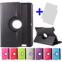 "Funda giratoria para Tablet Bq Edison 3 Quad Core 10.1"" Color: Negro + 2 Protectores de Pantalla"