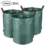 MVPOWER 3er Gartensack 272L Gartenabfallsack aus robuste PP - selbststehend und faltbar - Abfallsäcke für...