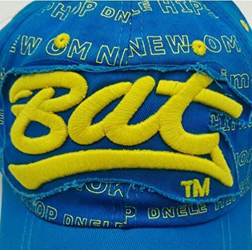 Imagen de lcdy alfabeto  de béisbol, lengua masculina y femenina pato  de béisbol,  de béisbol para adultos, sombrero para deportes al aire libre,blue,54 * 62cm alternativa
