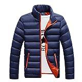 Cappotto di cotone ispessito da uomo Cappotto di cotone slim-fit Giacca imbottita di solido Cappotto di colletto rigido per l'inverno Indossare