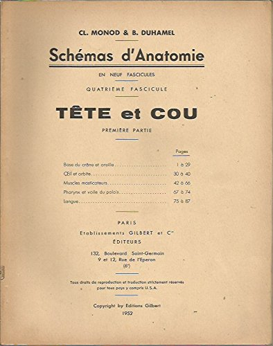 Tête et cou (Schémas d'anatomie) par Claude Monod
