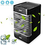 Volwco Personal Space Air Cooler, 3 In 1 Portable Mini Air Conditioner, Humidifier & Purifier With 2 Speeds For Quick Cool Home Office Desk Bedroom Outdoor