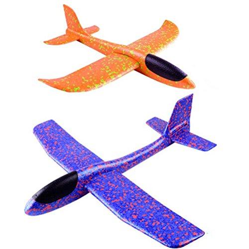 TOYMYTOY Fliegender Segelflugzeug Schaum Flugzeuge | 2pcs Werfen Whirly Glider Planes für Kinder, die Party Bevorzugungen (zufällige Farbe) (Sie Gute Halloween-party Werfen Eine)