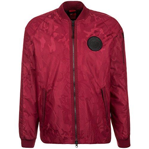 Nike Herren F.C. Woven Freizeitjacke Jacke, rot/Schwarz, M/44-46